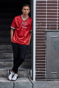 Oliver Batista Meier Soccer player with red Nike shirt standing