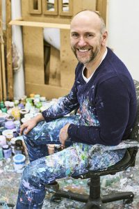 Portrait of painter Christop Winter at his Berlin atelier